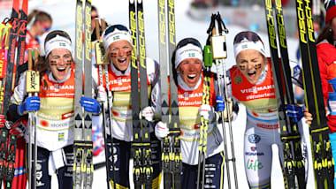 クロスカントリー女子リレー、スウェーデンがノルウェーの5連覇阻止。日本は14位 - ノルディックスキー世界選手権