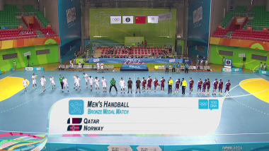QAT v NOR - Men's Handball | 2014 YOG Nanjing