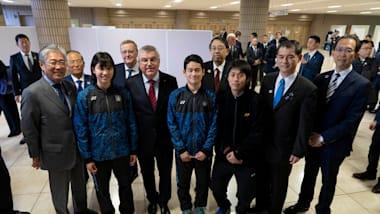 IOC President Thomas Bach visits Tokyo 2020 venue in Fukushima