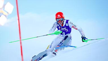여자 슬랄롬 (런 2)   FIS 월드컵 - 레비