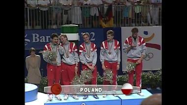 The polish men's foil team in Barcelona 1992