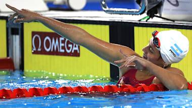 Delfina, la esperanza de la natación argentina se traza grandes metas