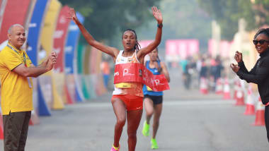 Tsehay Gemechu betters own course record, retains Delhi Half Marathon title