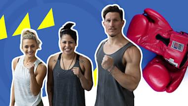 피트니스 듀오는 올림픽 메달리스트의 복싱 훈련을 따라갈 수 있을까?