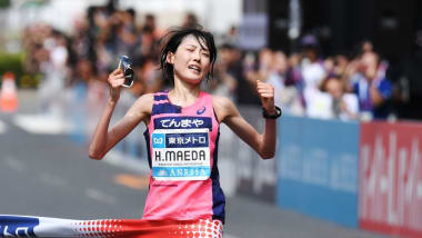 マラソングランドチャンピオンシップ女子:前田穂南が2位に4分差の独走で五輪内定