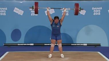 여자 +63kg - 역도 | YOG 2018 하이라이트