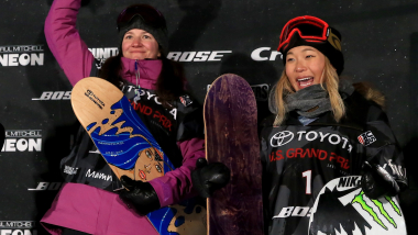 Chloe Kim and her snowboard hero