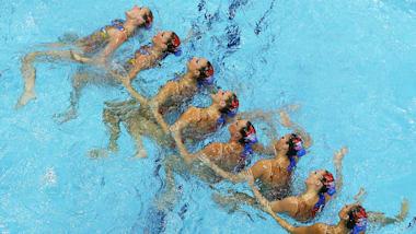 Синхронное плавание: попурри AC/DC