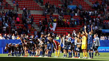 サッカー女子W杯:なでしこジャパンの3大会連続決勝トーナメント進出が確定