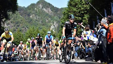 自転車ロードレース東京五輪テストイベント開催、岡篤志が日本人首位の15位でゴール