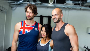 Fitness influencers Kelsey Lee and DC Cutting train with Team GB Olympians