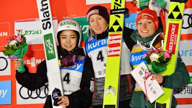 スキージャンプW杯、女子個人第8戦蔵王大会で高梨沙羅が2位…僅差で優勝を逃す