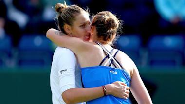 女子テニス: ネイチャーバレー・クラシック3日目 プリスコバ双子姉妹対決はクリスティナに軍配あがる