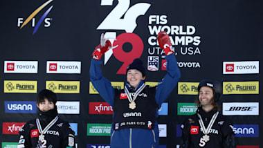 スノーボード世界選手権:ハーフパイプ予選首位通過の戸塚優斗が2位