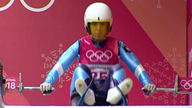 La joven Verónica Ravenna hace su debut olímpico en Luge