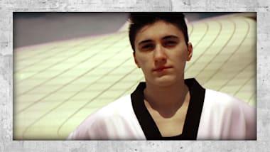 Die olymp. Taekwondondistin aus Aserbaidschan, die unter Wasser trainiert