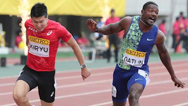 陸上セイコー・ゴールデンGP大阪、男子100mで桐生祥秀が、1位のガトリンに僅差の2位