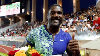 Gatlin surprises Lyles in 100m win as women's mile world record falls at Monaco Diamond League