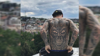 Check out Logan Martin's full body tattoo