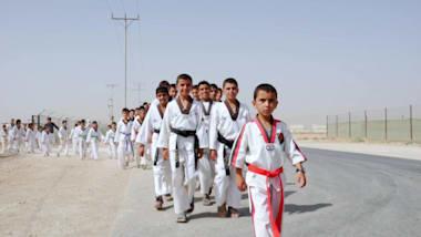 Camp de réfugiés Zaatari: le taekwondo inspire la confiance des enfants