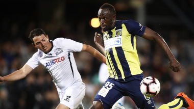 Usain Bolt leaves the Mariners