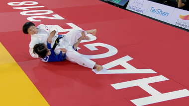 Otsuji Terumi makes winning debut at The Hague