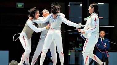 フェンシング女子W杯タウバービショフスハイム大会最終日、女子フルーレ団体で日本は5位