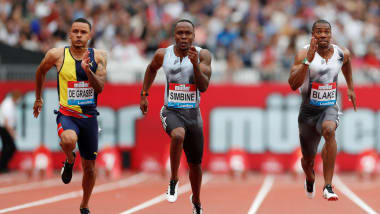 Akani Simbine beats double Olympic champ Yohan Blake in London Anniversary Games 100m showdown
