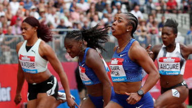 Shelly-Ann Fraser-Pryce wins 100m at London Anniversary Games