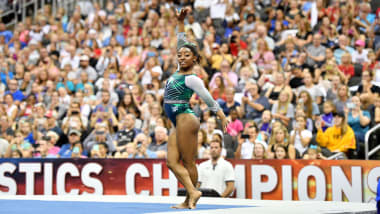 More history for Simone Biles on first day of U.S. champs