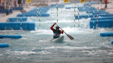 Canoe Slalom paddlers test Tokyo 2020 Olympic Venue