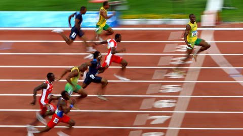 Back to Beijing: Usain Bolt's 100m world record with an untied shoelace