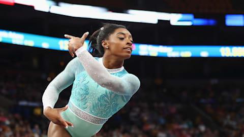 Historic night for Simone Biles at U.S. Gymnastics Championships