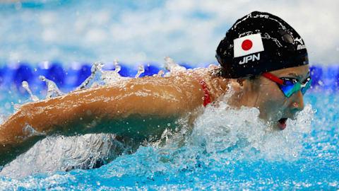 Rikako Ikee at Rio 2016