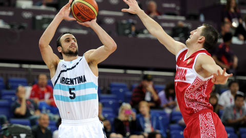 Ginobili guides Argentina to basketball gold