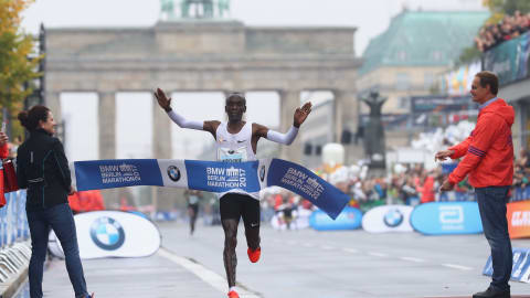Eliud Kipchoge gunning for world record at Berlin Marathon