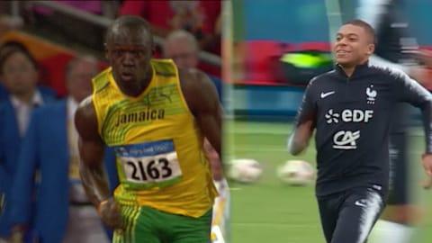 Mbappe matches Bolt's pace