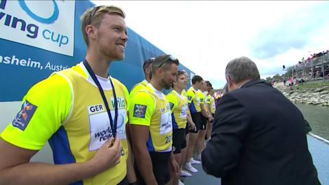 두번째 세계 조정컵 남자 8인에서 우승한 독일