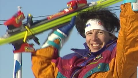Who will be the new Vreni Schneider Swiss ski legend?