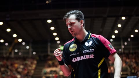 German veteran Timo Boll celebrates seventh European title