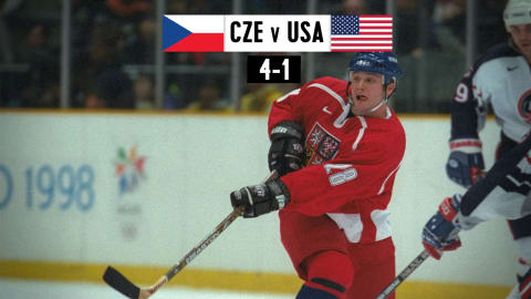CZE v USA (Quarterfinal), Men's Ice Hockey | Nagano 1998 Replays