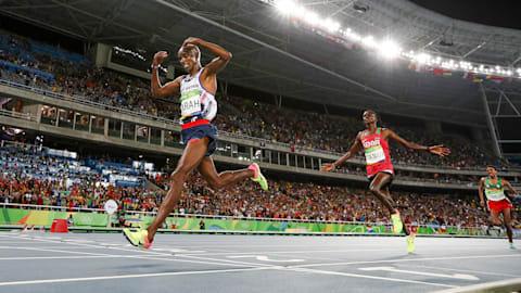 Mohamed Farah schreibt Geschichte im 10.000-Meter-Lauf