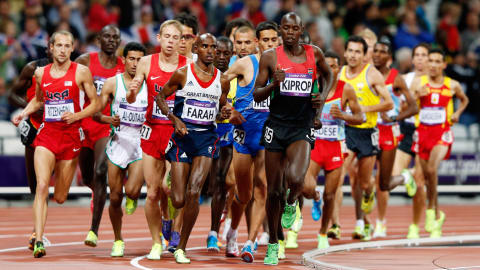 Replay: Farah gewinnt Gold über 10.000 Meter der Männer