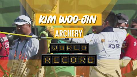 Kim Woo-jin establece récord mundial en tiro con arco