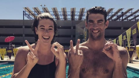 Did Michael Phelps let slip that Allison Schmitt is returning to the pool?