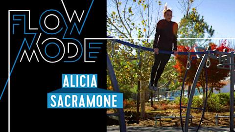 La gimnasta Alicia Sacramone-Quinn transforma un trote en una gran rutina