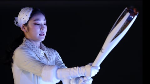 Yuna Kim relives emotional moment