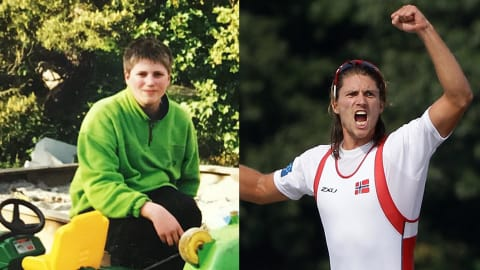 From chubby youngster to champion rower!