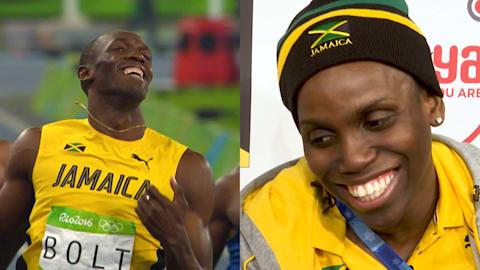 بولت على زلاجة؟ منتخب جامايكا يتحدى أسطورة السرعة