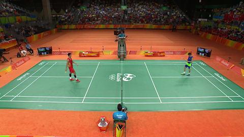 Best men's badminton rally from Rio 2016